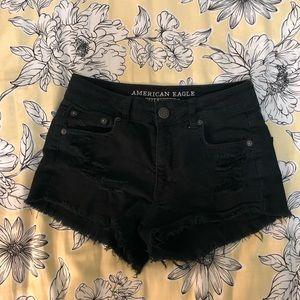 AEO Distressed high waist shorts